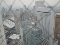 ヒルトンホテル、JR大阪駅方面