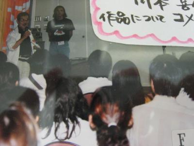 学生たちも前でトークしてくださった川本喜八郎さん