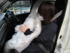 シートベルト掛けてあげてよ