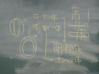 小堀先生の黒板板書