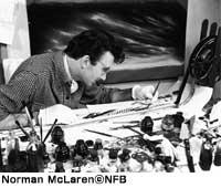 ノーマン・マクラレン(NFB写真資料から)