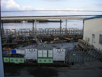 3月12日の朝 自宅2階から見える浦河港