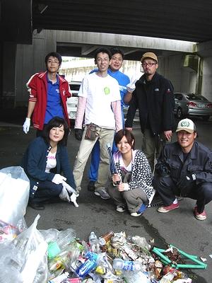 2010年10月 浦河ゴミ拾い隊