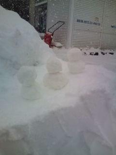 2010 1月雪かき