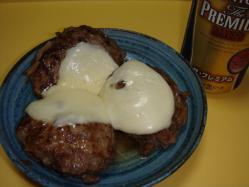 北海道チーズとハンバーグ