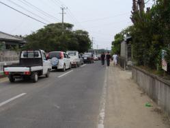 闘牛の後は、徳之島じゃなかなか見れない渋滞になるのだ。