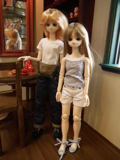 カスタム50少年さんと、カスタム45少女さん。