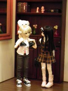 クマと遊んでくれました。