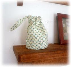 ミニ巾着グリーン玄関用