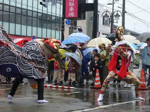 H220523獅子舞共演会氷見市役所①