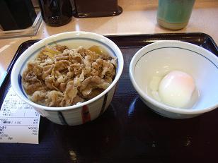 らんぷ亭のミニ牛丼
