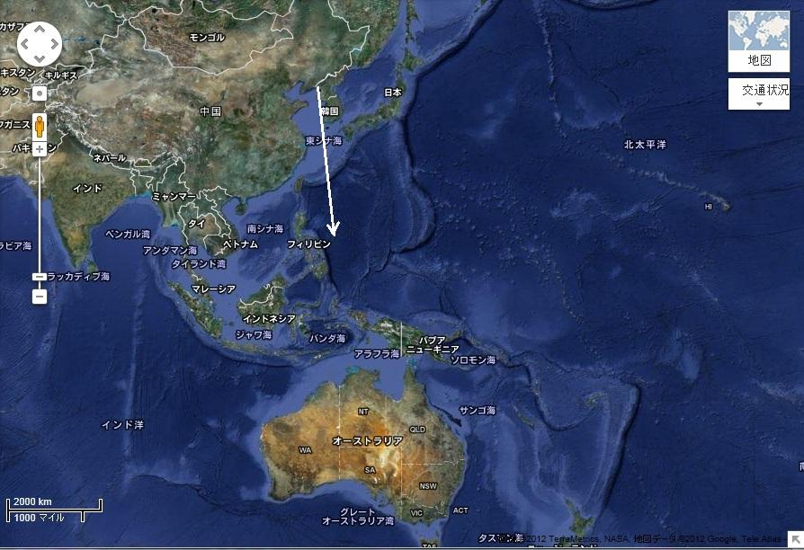 北朝鮮ミサイルの軌跡2