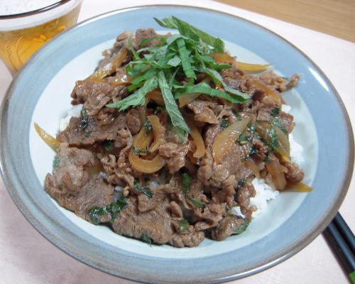 大葉風味牛丼1