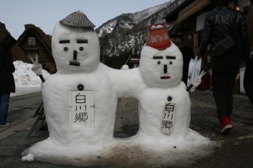 白川郷雪だるま2