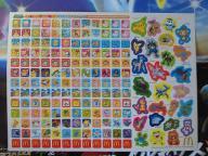 ポケモンカレンダーのシール