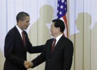 オバマ大統領と中国国家主席・胡錦濤