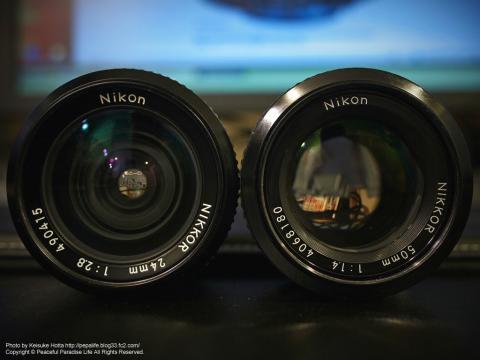 Nikon 24mm f/2.8 AI-sとNikon 50mm f/1.4 AI