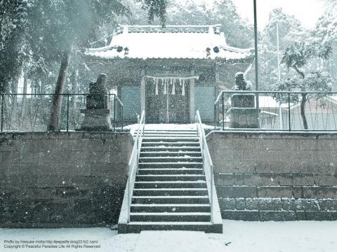 雪が降る町、岡津町 9
