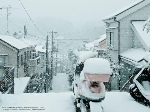雪が降る町、岡津町 5