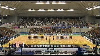 岡崎市中央総合公園総合体育館。