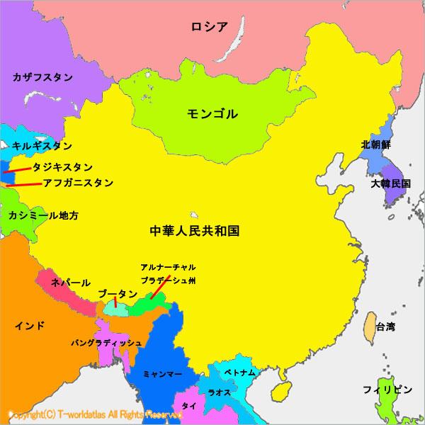 世界地図:中国 | 荒谷のロー ...