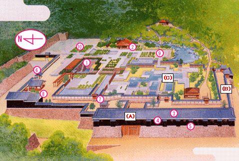 松山城二の丸図