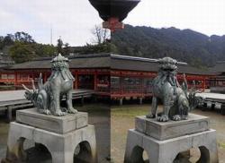 it.厳島神社 010 正殿狛犬