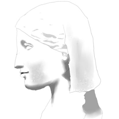 古代オリエント・ギリシャの女の人の像