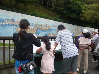 源平壇ノ浦合戦の壁画