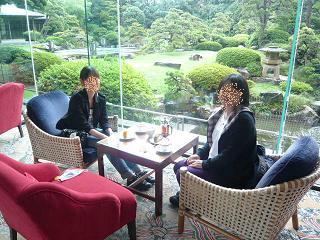 ホテルでお茶の時間