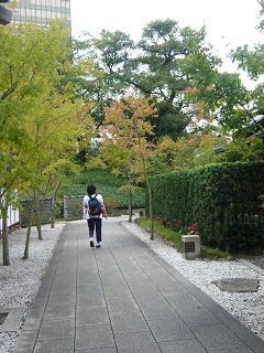 小倉城庭園内