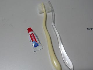 北京のホテルの歯ブラシ