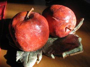リンゴのキャンドルスタンド