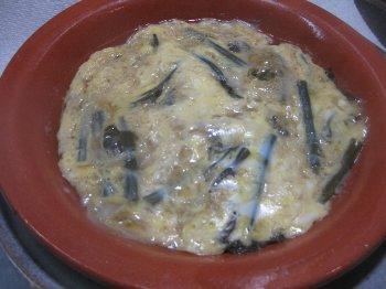 蕨の卵とじ