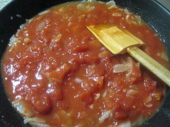 トマトを入れて