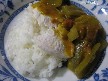 ヘビウリと茄子のインドネシア風カレー