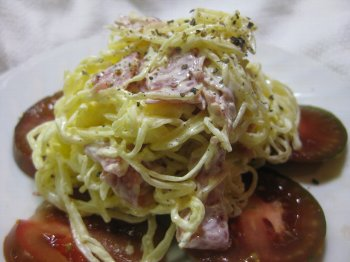 イタリアンサラミとマヨネーズで