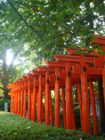 春日神社の赤鳥居