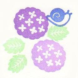 花と生き物セット色見本・あじさい