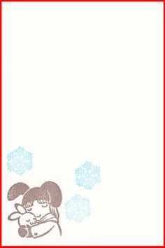 卯年賀・女の子とうさぎ40