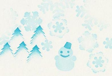 雪のはんこ2色見本 60-80