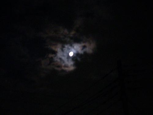 雲がかかる