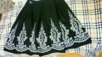 刺繍スカート