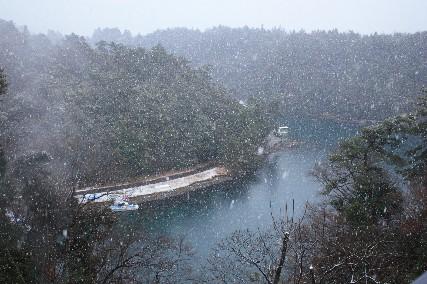 百楽荘雪景色