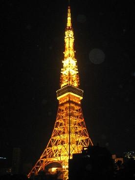 東京タワー夜ホテルより