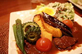 カフェ夏野菜カレー2