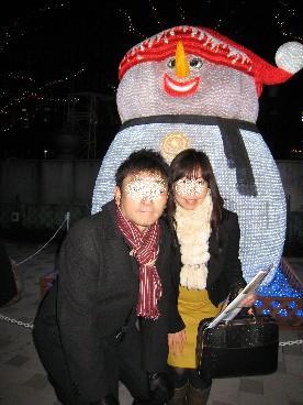 2010Xmasイルミ雪だるま