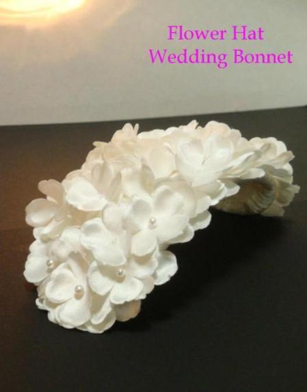 ボンネ フラワー ウェディングヘッドドレス Flower Hat Wedding Bonnet