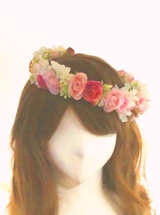 花冠 ヘアスタイル 花嫁 髪型