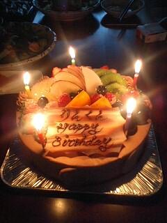 5才誕生日ケーキ
